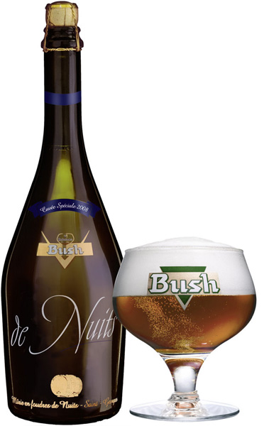 Bush de Nuits with glass